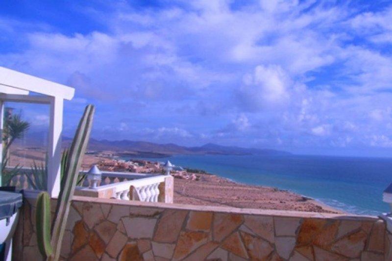 Blick von der Dachterrasse in Richtung Costa Calma